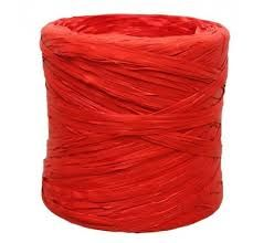 Rollo cinta rafia 15mmx200m rojo