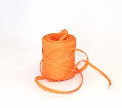 Rollo cinta rafia 15mmx200m naranja