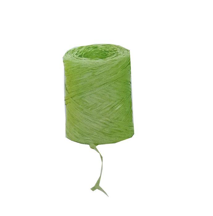 Rollo cinta rafia 15mmx200m verde claro