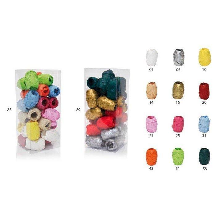 Barrilete rafia 15mmx10m colores pasteles