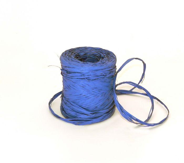 Rollo cinta rafia 15mmx200m azul