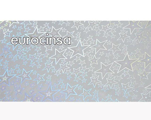 Bobina papel celofan 50 m estrellas holograficas 62i301