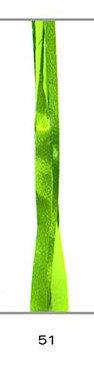 Cinta regalo rafia 15 mm metalizada verde claro 200 m