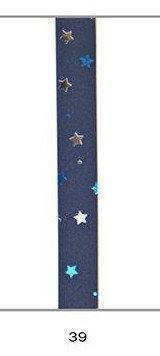 Cinta regalo 10 mm metalizada azul estrellas multicolor