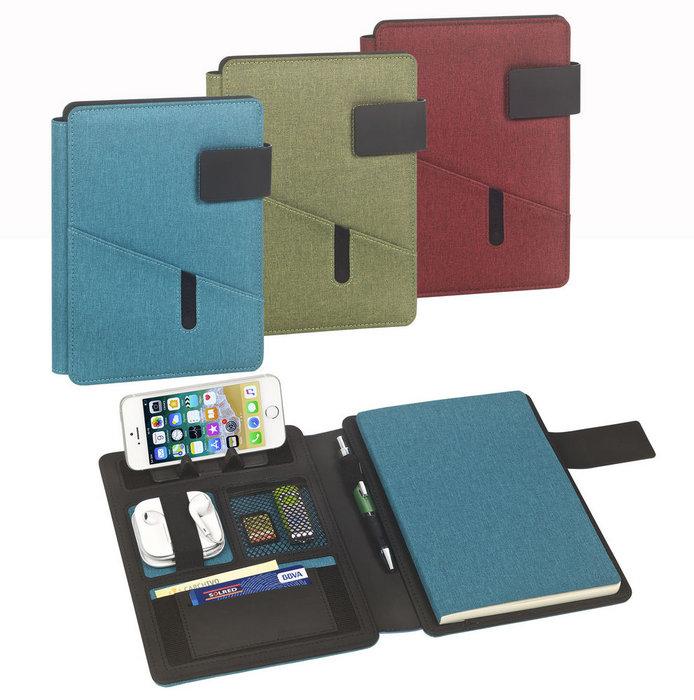 Portanotas a5 venture soporte phone cuaderno rojo