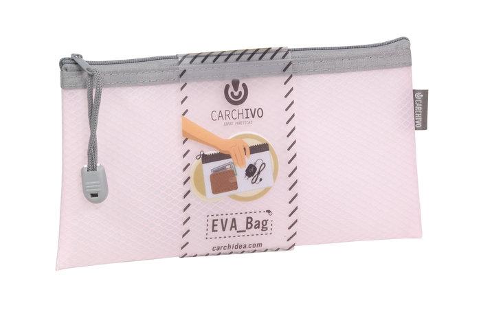 Bolsa cremallera eva-bag tamaÑo check rosa