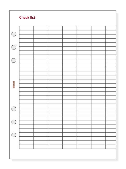 Recambio checklist 1000 r1001