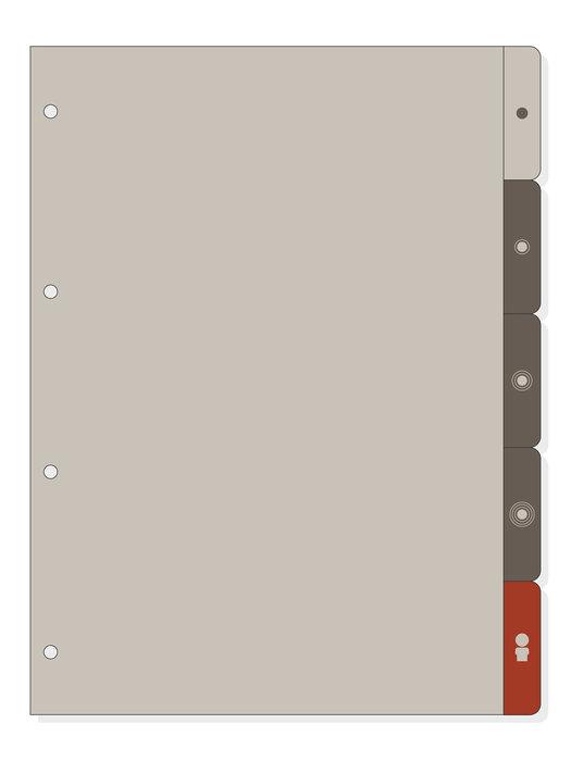 Recambio juego 6 guias laterales 4000 a4 gris r4063