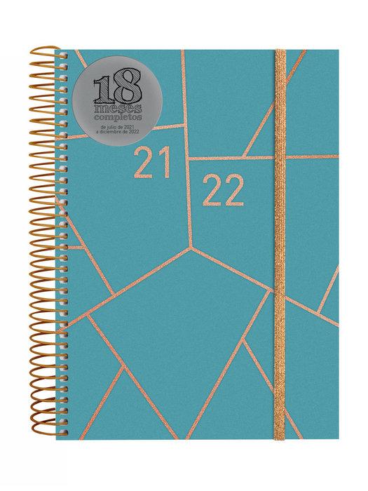 Agenda anual 18 meses 2021-2022 finocam geometric e10 2dp