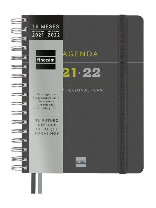 Agenda anual 16 meses 2021-2022 finocam tempus gris 4º seman
