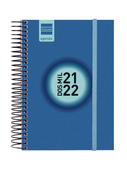 Agenda escolar 2021-2022 finocam espir label e8dp azul cob.