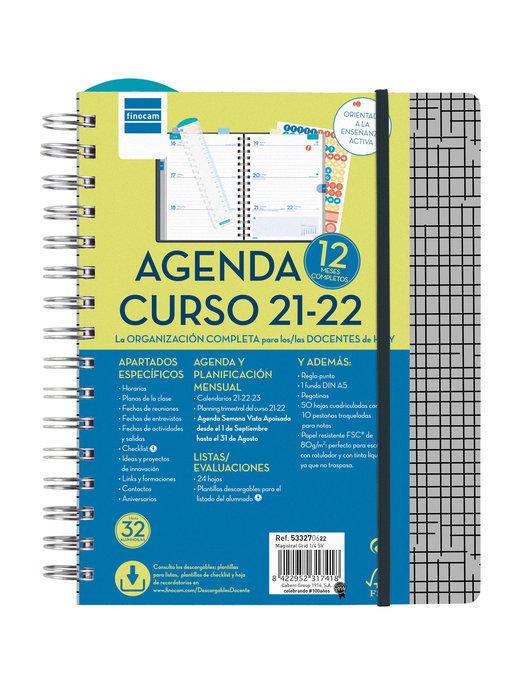 Agenda escolar 2021-2022 finocam magistral 4º semana vista g