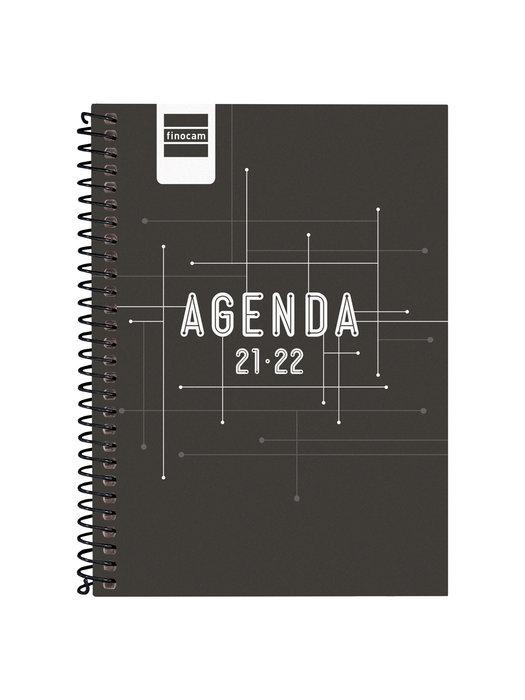 Agenda escolar 2021-2022 finocam cool negro 8º semana vista