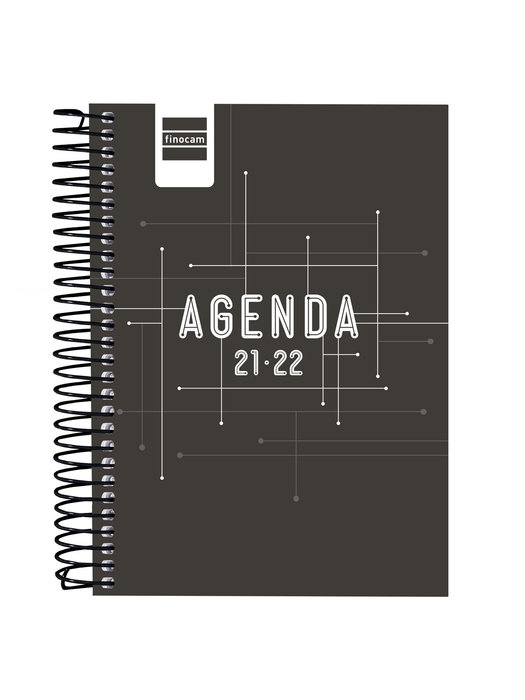 Agenda escolar 2021-2022 finocam cool negro 8º 1 dia pagina