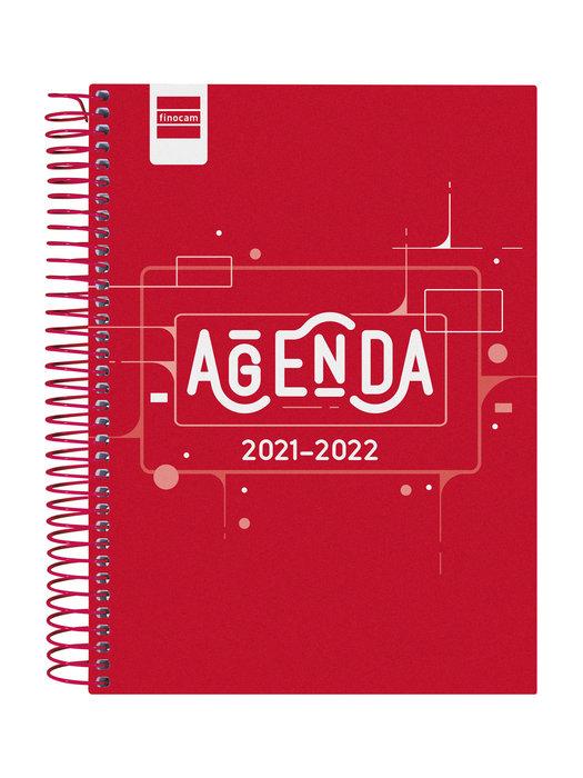 Agenda escolar 2021-2022 finocam cool rojo 4º 1 dia pagina c
