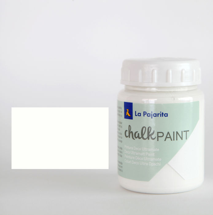 Pintura pajarita 75ml chalk paint cp-01 blanco nube