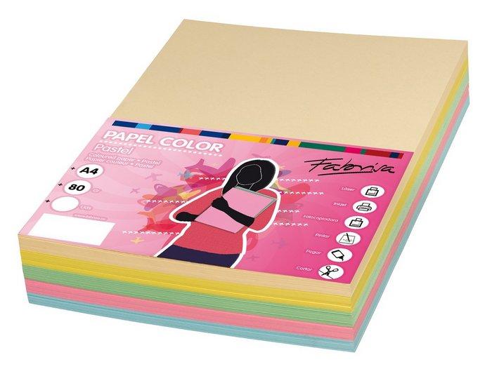 Papel 80gr a4 500h colores pasteles