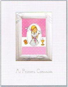 Libro portarretratos comunion rosa 21610