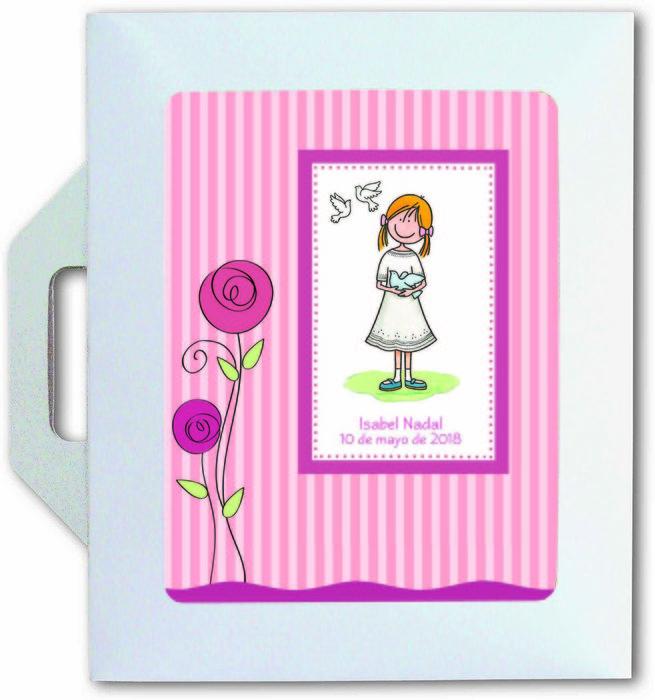 Conjunto carpeta y libro comunion color niÑa 27522