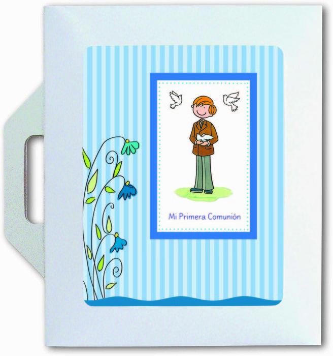 Conjunto carpeta y libro comunion color niÑo 27523