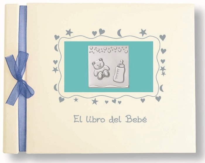 Libro bebe apaisado con placa niÑo