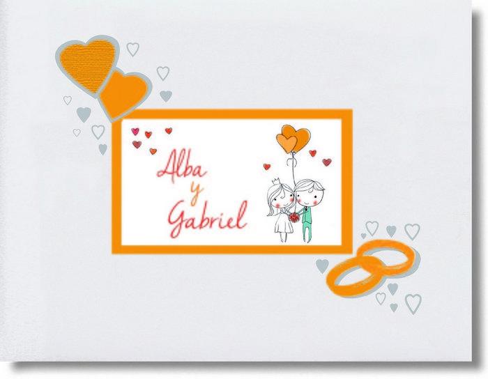 Libro firmas boda corazones 29054