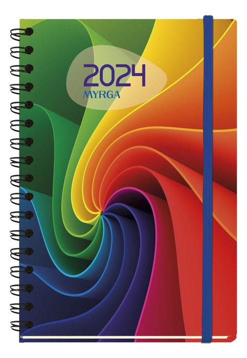 Agenda anual 2022 texture dia pagina etnica myrga