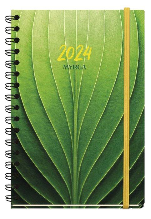 Agenda anual 2022 texture dia pagina hojas myrga