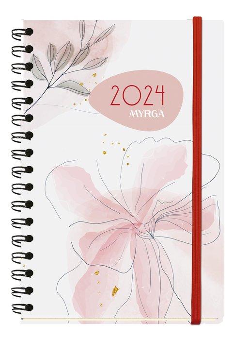 Agenda anual 2022 texture dia pagina lineal myrga