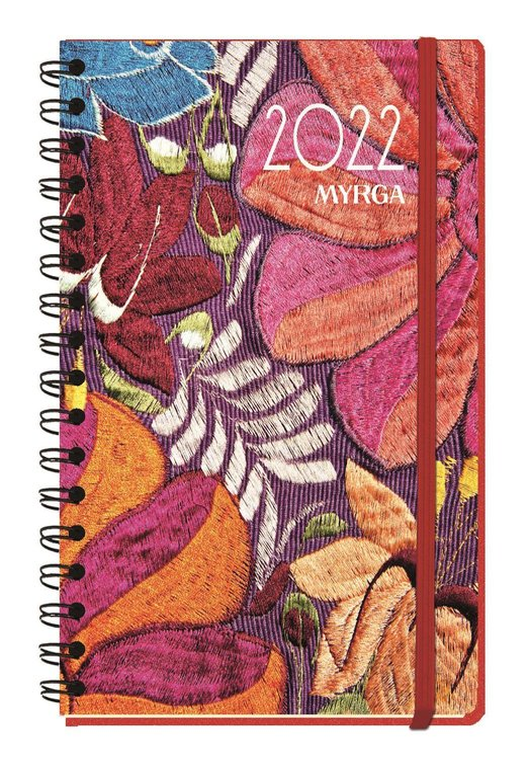 Agenda anual 2022 texture dia pagina textil myrga