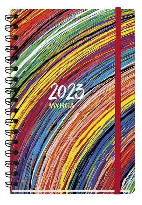 Agenda anual 2022 texture dia pagina vintage myrga