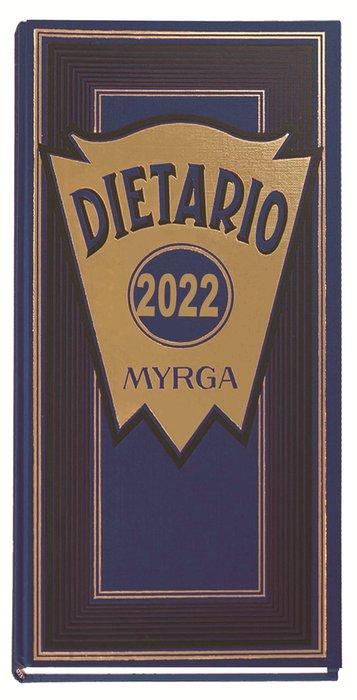 Dietario myrga 2022 dos tercios dia pagina azul