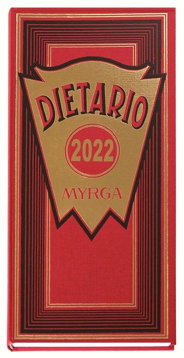 Dietario myrga 2022 dos tercios dia pagina rojo