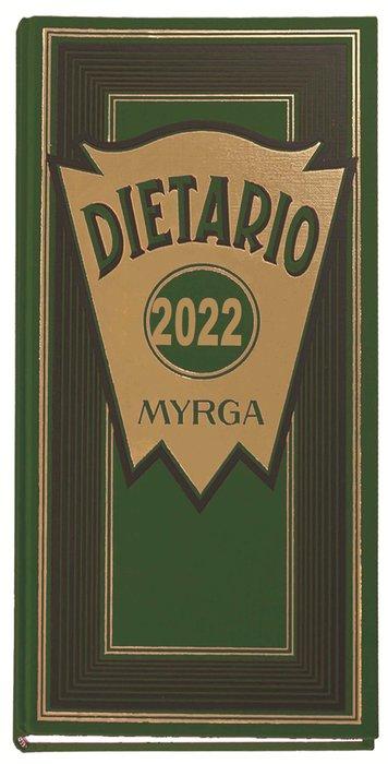 Dietario myrga 2022 dos tercios dia pagina verde