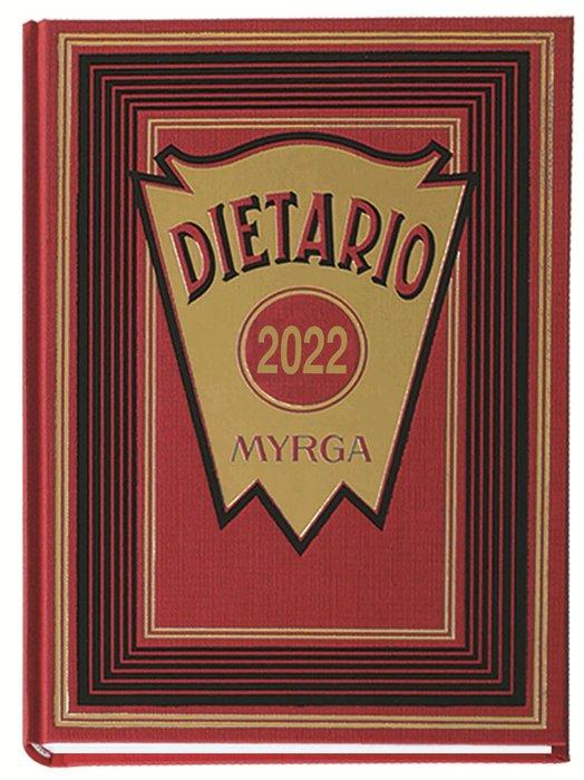 Dietario myrga 2022 cuarto dia pagina rojo