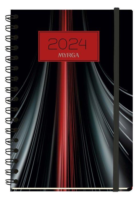 Agenda anual 2022 texture semana vista vintage myrga