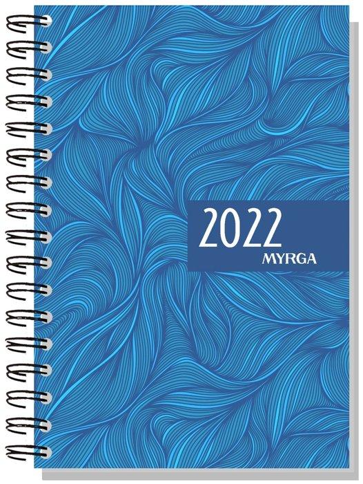 Agenda anual 2022 dueÑas colors dia pagina azul myrga