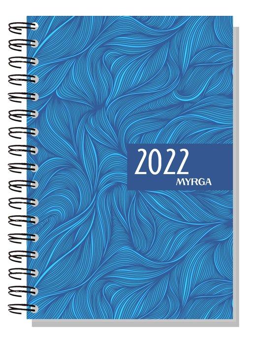 Agenda anual 2022 dueÑas colors semana vista azul myrga