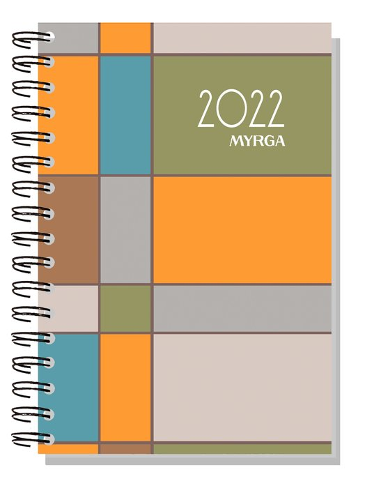 Agenda anual 2022 dueÑas colors semana vista cuadros myrga