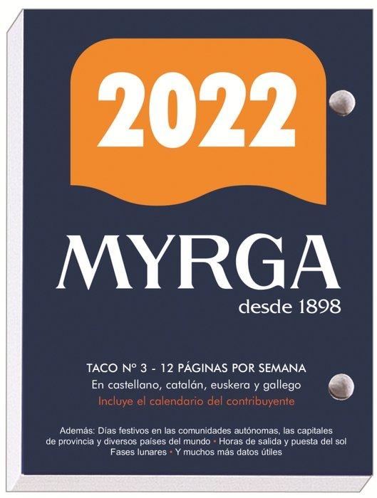 Taco de sobremesa myrga nº3 castellano 2022
