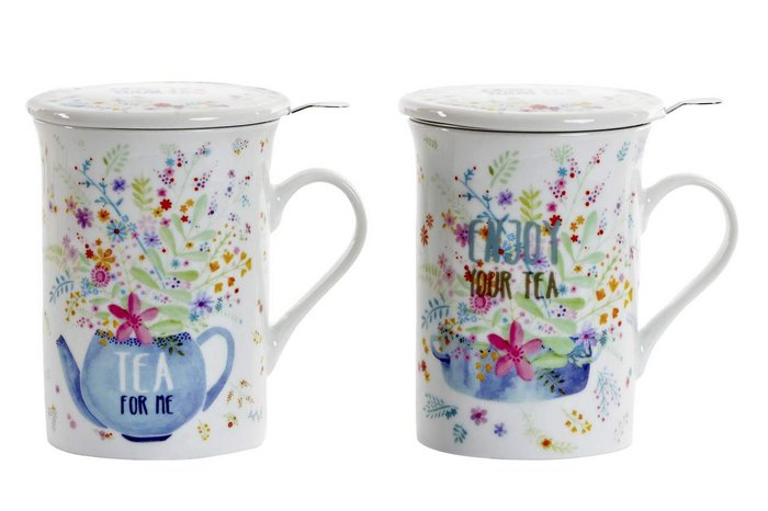 Taza infusiones porcelana 10,5x8,5x11 280 ml cook