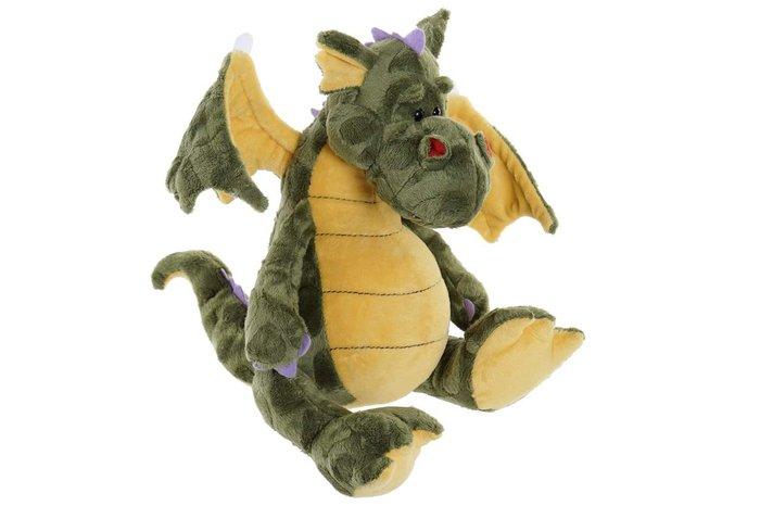 Peluche poliester pp 18x29x25 dragon verde