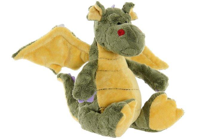 Peluche poliester pp 13x18x15 dragon verde