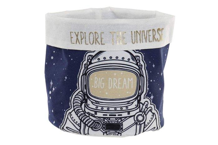 Cesta poliester algodon astronauta azul