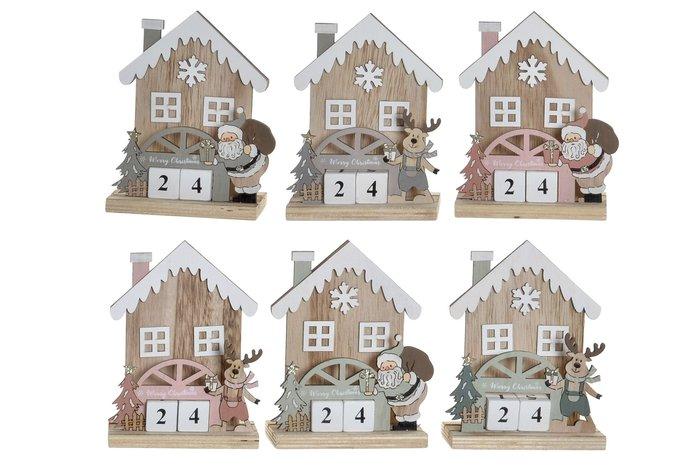 Calendario madera casas surtidas 12,5x17x6
