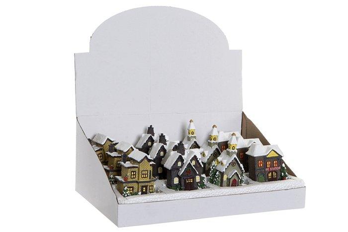 Figura casas surtidas con led de resina
