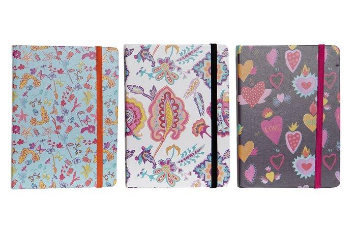 Libreta carton papel 10,5x1,5x14,5 80h  horizontal surtida