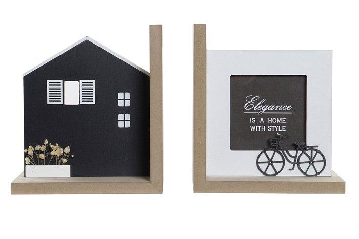 Sujetalibros madera 15x12x17 casas natural modelos surtidos
