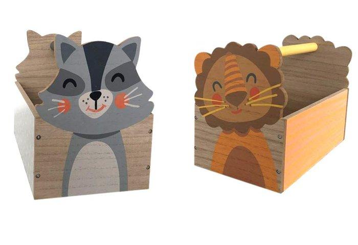 Caja madera 33x17x22 juguetes surtida