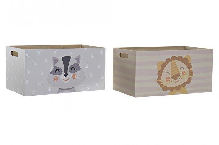 Caja madera decoracion 36x21x18  surtido